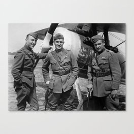 Aviators of the 94th Aero Squadron - World War I Canvas Print