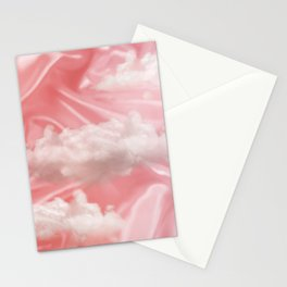 """Pink pastel sweet heaven and clouds"" Stationery Cards"