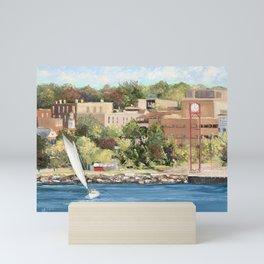 Sails Up In Petoskey Mini Art Print