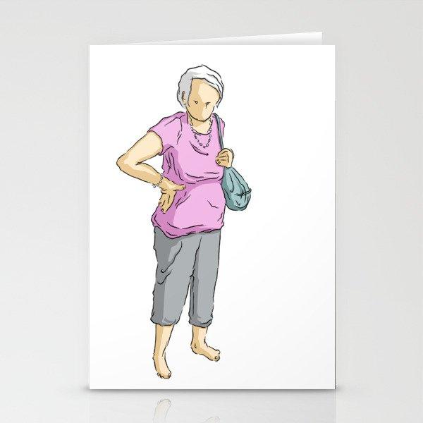 A lady Stationery Cards