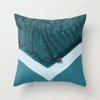 silent Throw Pillows featuring Blue Silent by Andrea Dalla Barba