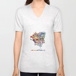 Eye hold my head up high Unisex V-Neck