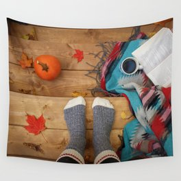 Her Autumn (Color) Wall Tapestry