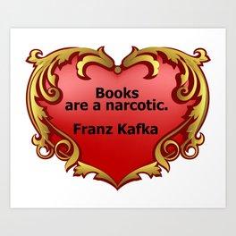 Kafka on Books Art Print