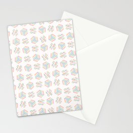 Graphic striped geometric cube polka dot abstract seamless Stationery Cards