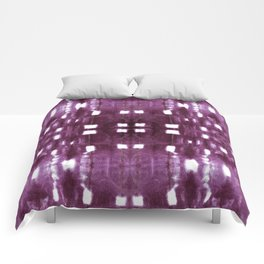 Shibori City Plum Wine Comforters