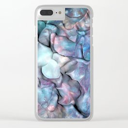 Abstract Galaxy 3D space Clear iPhone Case