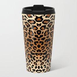 leopard pattern Metal Travel Mug
