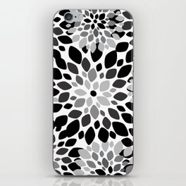Black and White Burst iPhone Skin