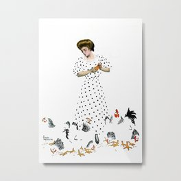 """Coles Phillips 'Fadeaway Girl' Magazine Illustration  """"Country Life"""" Metal Print"""