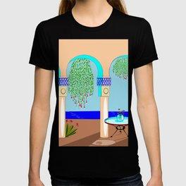 A Mediterranean Garden with Fountain T-shirt