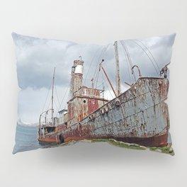 Whaling Ship with Gun Pillow Sham