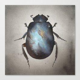 Galaxy Scarab Canvas Print