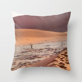 Leave only foortprints Throw Pillow