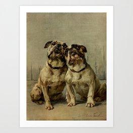 Earl,Maud   (1864-1943) -The Power of the Dog Bulldog Art Print