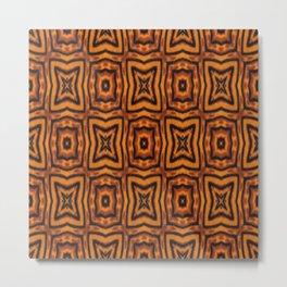 Tiger Fur Pattern Metal Print