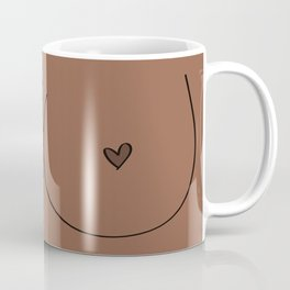 Boobs - Medium Brown Coffee Mug