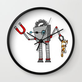 Robo-Cat Wall Clock