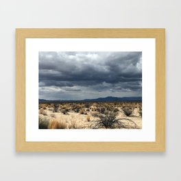 California desert under the clouds Framed Art Print