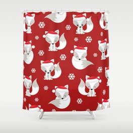 THE SPELL OF THE CHRISTMAS FOXES Shower Curtain