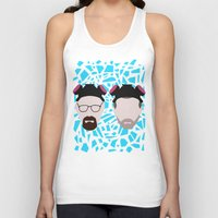 jesse pinkman Tank Tops featuring Walter White and Jesse Pinkman by Raquel Segal