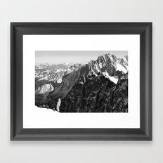 French Alps, Chamonix, France. (2) Framed Art Print