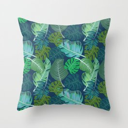 Tropical Leaves (Lets Go Tropical) Throw Pillow