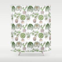 Watercolor . Plants . Shower Curtain
