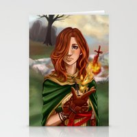 dark souls Stationery Cards featuring Dark Souls 2  - Emerald Herald by Vivid-K