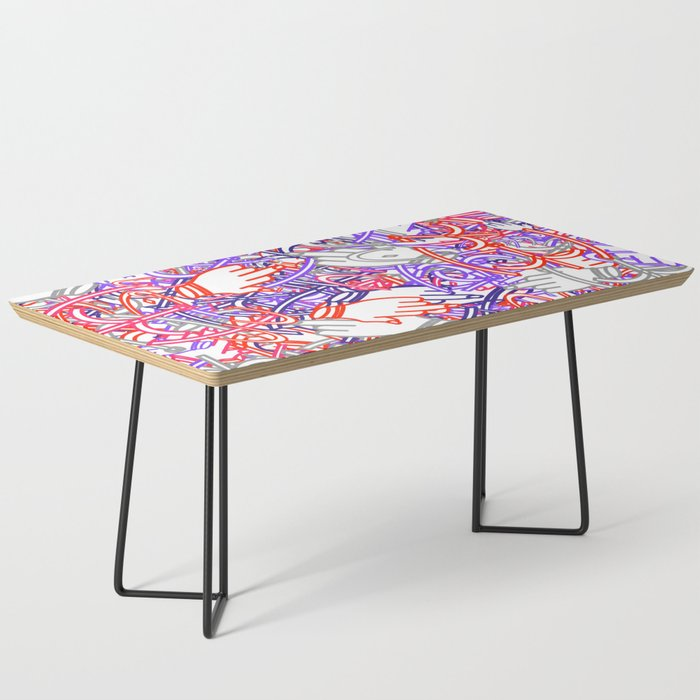 Funky Doodles Coffee Table By Bitart