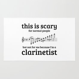 Not scary for clarinetists Rug