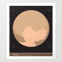 PLUTO (illustrated as seen) Art Print
