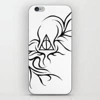 deathly hallows iPhone & iPod Skins featuring Deathly Hallows by Ria-Ra