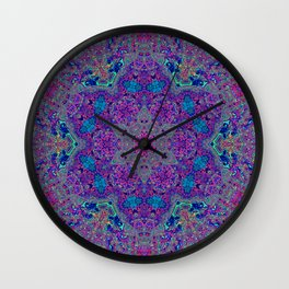 Oil Spill to Flower Wall Clock