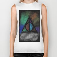 deathly hallows Biker Tanks featuring Deathly Hallows - Dark! by Ria-Ra
