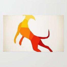 Abstract dog Rug