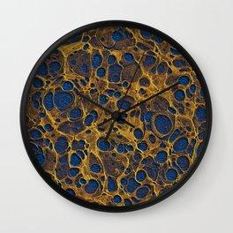 Golden Marble 06 Wall Clock