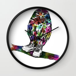 Owl in Air Jordans! Wall Clock