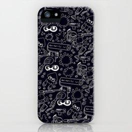 Splats 'n Guns (Black) iPhone Case