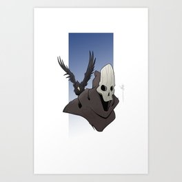 The Skull and the Raven Art Print