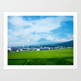 Fujisan By Train Art Print