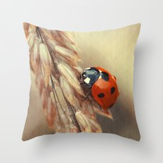 7 Spot Lady Throw Pillow