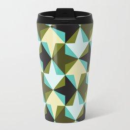 Geometric Pattern #103 (black green arrows) Travel Mug