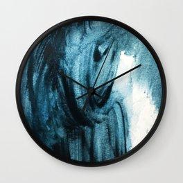 1 2 3 Blue Abstract Wall Clock