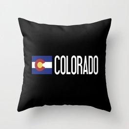 Colorado: Coloradan Flag & Colorado Throw Pillow