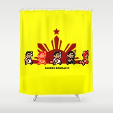 8-bit Andres Bonifacio 2 Shower Curtain