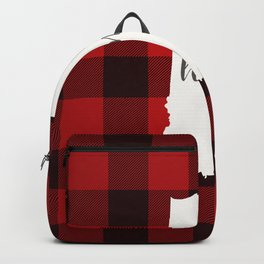 Indiana is Home - Buffalo Check Plaid Backpack