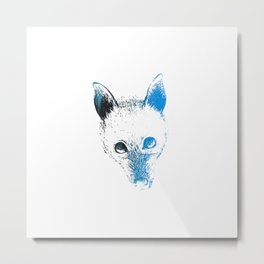 Flying fox face Metal Print
