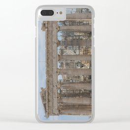 Modern and Ancient - Parthenon at Acropolis of Athens Under Construction Clear iPhone Case