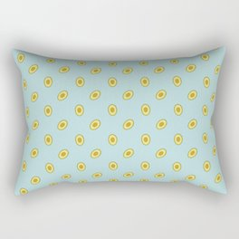 Colorful pattern of fresh avocado on turquoise background Rectangular Pillow